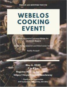 Webelos Cooking Event